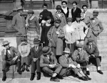 The meeting of Constructivists and Dadaists in Weimar, 1922; (left to right) - Upper row Max and Lotte Burchartz, Peter Röhl, Vogel, Lucia and Laszlo Moholy-Nagy, Alfred Kemeny; Middle row Al