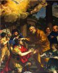 Ananias of Damascus restoresSaint Paul's sight. A 1631 painting by Pietro Cortona