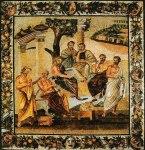 The Grove of Accademia, Plato. by Joshua Cristall, 1768-1847