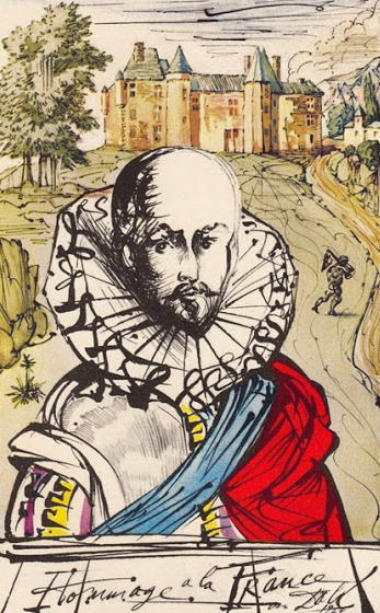 Portrait of Michel de Montaigne by Salvador Dalí