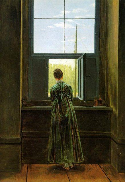 """კასპარ დავიდ ფრიდრიჰი """"ქალი ფანჯარასთან"""""""