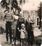 დედასთან და შვილებთან ერთად ბაკურიანში. 1963 წ.